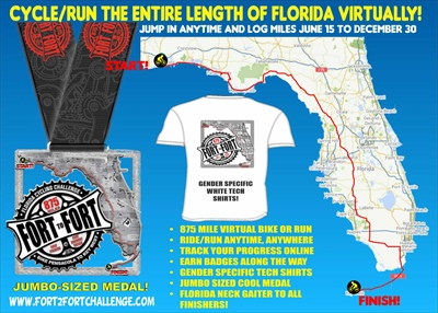 Florida Fort 2 Fort 875 mile Virtual Challenge